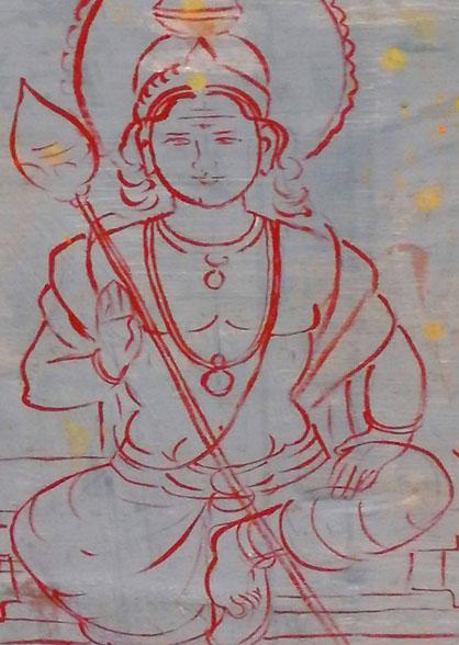 バトゥ洞窟の神の絵