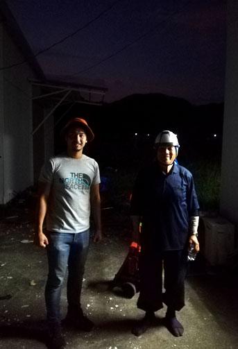 大工さんとボランティア