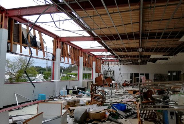 台風15号、被災地