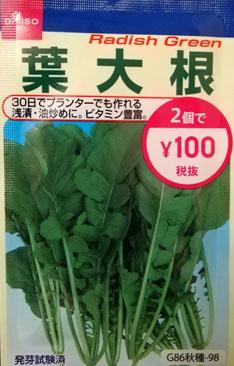 葉大根の種